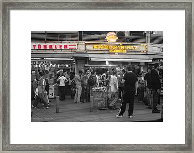 Hamburger Across The World Framed Print