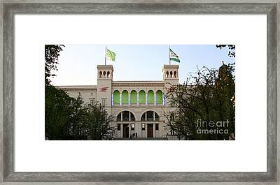 Framed Print featuring the photograph Hamburger Bahnhof In Berlin by Art Photography
