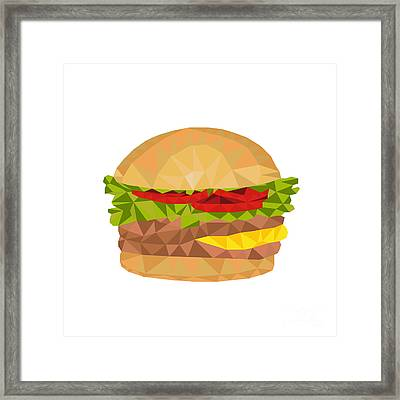 Hamburger Low Polygon Framed Print