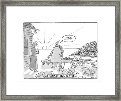 Hamburger Madness Framed Print