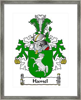 Hamel Coat Of Arms Dutch Framed Print by Heraldry
