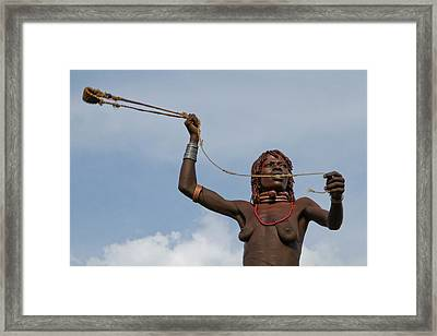Hamer Tribe Woman Framed Print