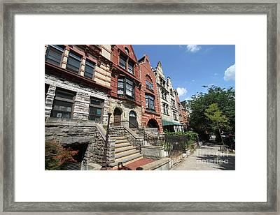 Hamilton Heights Houses Framed Print by Steven Spak