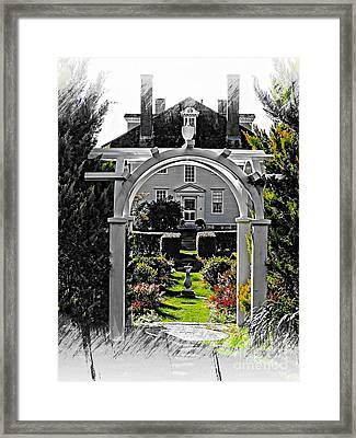 Hamilton House Gardens Framed Print