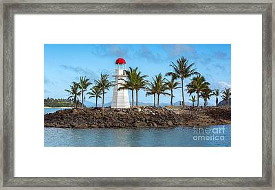Hamilton Island Lighthouse Framed Print by Shannon Rogers