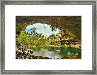 Hamilton Pool - Dripping Springs Texas Framed Print by Adam Jewell