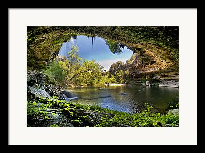 Water In Cave Framed Prints