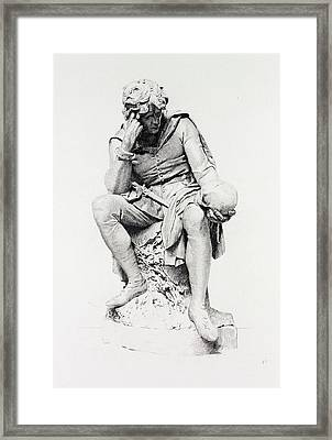 Hamlet, From The Statue By Lord Ronald Gower Framed Print