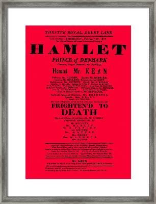 Hamlet Playbill Framed Print