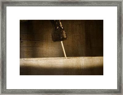 Hammer And A Nail Framed Print