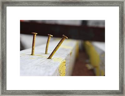 Hammer And Nail Framed Print by Tiffany Erdman