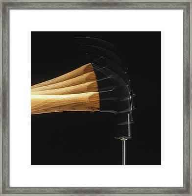Hammer Striking Nail Framed Print