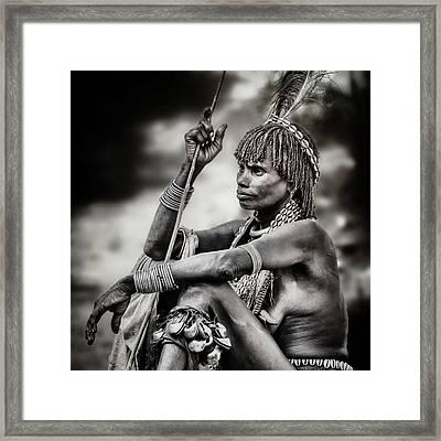 Hammer Woman Framed Print