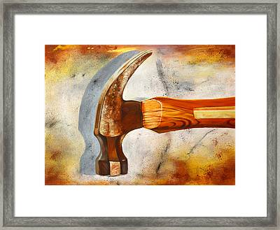 Hammered Framed Print by Karl Melton