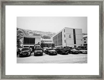 Hammerfest Radhus Kommune Offices Local Government Council  Finnmark Norway Europe Framed Print