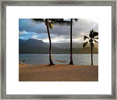 Hammock At Hanalei Bay Framed Print by James Eddy
