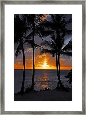 Hammock Sunset Framed Print by Lynn Bauer