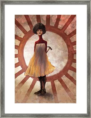 Hammrgrrl Framed Print by Ethan Harris