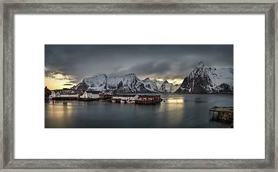Hamnoy Village On Lofoten, Nordland Framed Print