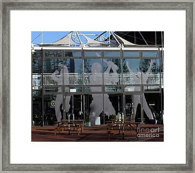 Hampshire County Cricket Glass Pavilion Framed Print by Terri Waters