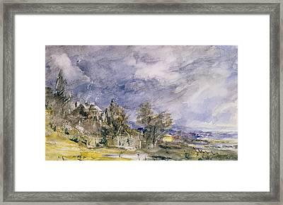 Hampstead Heath From Near Well Walk Framed Print by John Constable
