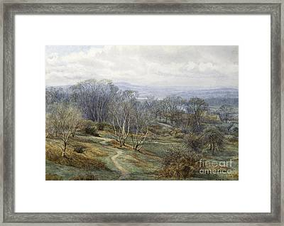 Hampstead Heath Looking Towards Harrow On The Hill Framed Print by Edith Martineau