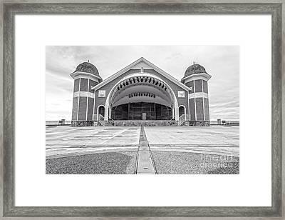 Hampton Beach Bandstand Stage Framed Print by Edward Fielding