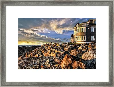 Hampton Beach Sunrise Framed Print by Fred Larson