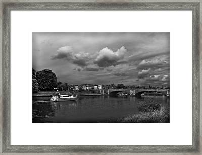 Hampton Bridge Framed Print by Maj Seda