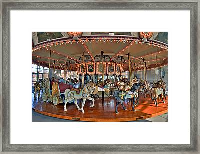 Hampton Carousel 2 Framed Print by Jerry Gammon