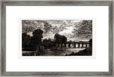 Hampton Court Bridge Framed Print by Litz Collection