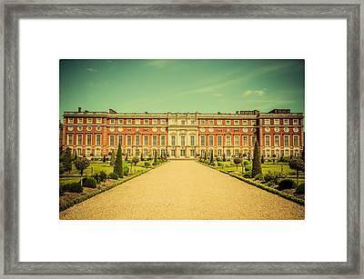 Hampton Court Palace Gardens As Seen From The Knot Garden Framed Print
