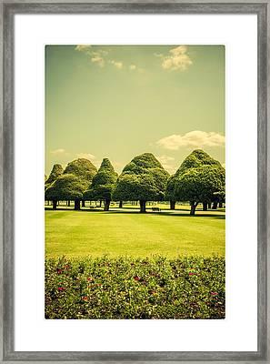 Hampton Court Palace Gardens Summer Colours Framed Print