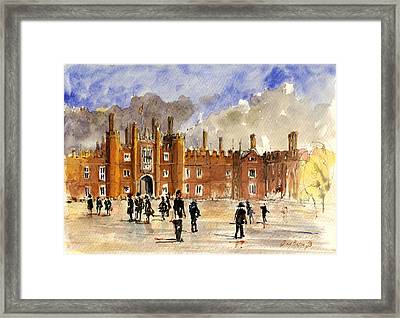 Hampton Court Palace London  Framed Print by Juan  Bosco