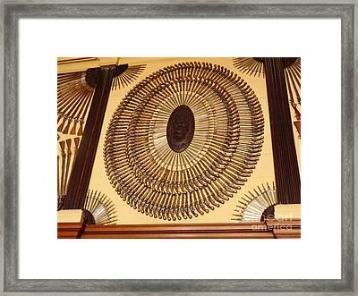 Hampton Court Weaponry Framed Print by Deborah Smolinske
