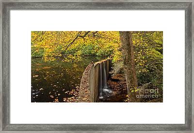 Hampton Lake In Fall Framed Print by Matt Tilghman
