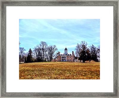 Hampton Mansion Framed Print