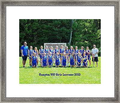 Hampton U15 Girls 2013 Framed Print
