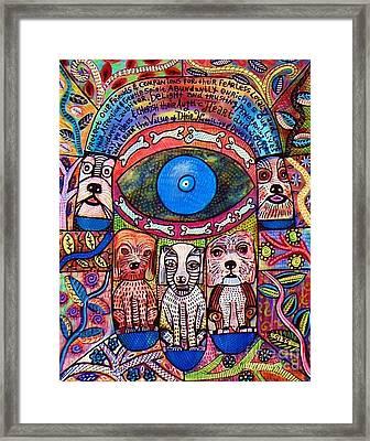 Hamsa Dog Blessing' Framed Print