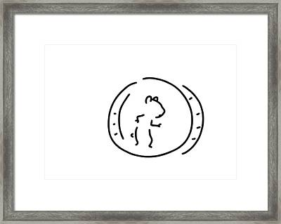 Hamster Pinch Hamster's Wheel Framed Print