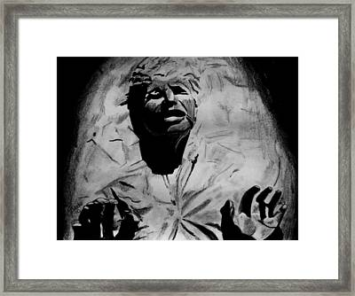 Han In Carbonite Framed Print by Jeremy Moore