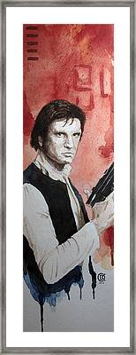Han Solo Framed Print by David Kraig