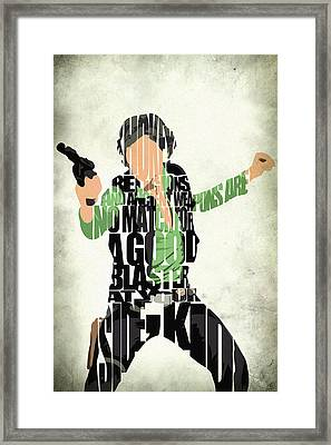 Han Solo From Star Wars Framed Print by Ayse Deniz