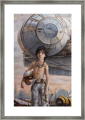 Han Solo Framed Print by Jose Luis Munoz Luque