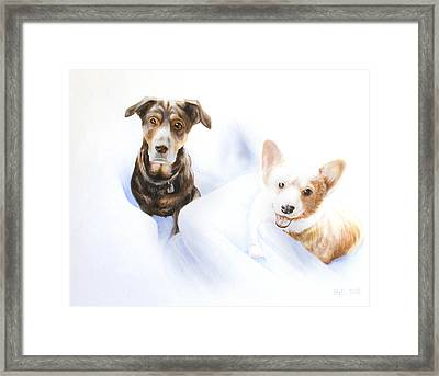Hana And Olive Framed Print by Kevin Hill