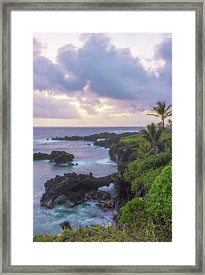 Hana Arches Sunrise 3 - Maui Hawaii Framed Print