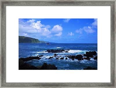 Hana Bay Happiness Framed Print