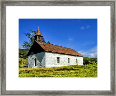 Framed Print featuring the photograph Hana Church 1 by Dawn Eshelman