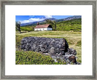 Framed Print featuring the photograph Hana Church 3 by Dawn Eshelman