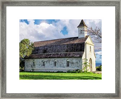 Framed Print featuring the photograph Hana Church 4 by Dawn Eshelman
